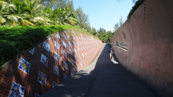 The memorial wall commemorating the dead at Ban Nam Khem.