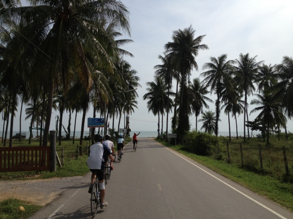 Cycling down towards the sea, the Gulf was always as