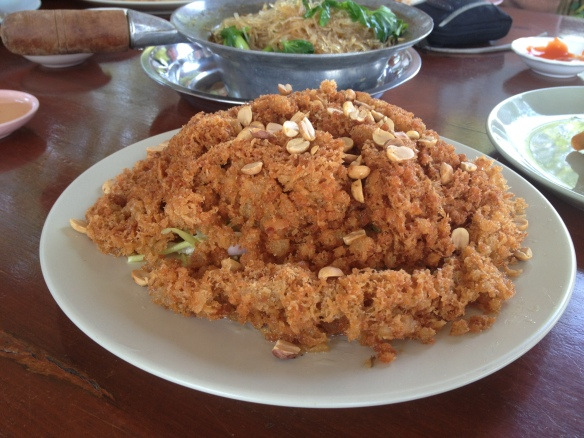 And the food was fantastic too - this was flaked deep fried fish - delicious.