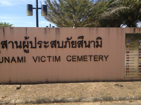 The entrance to the tsunami cemetery....