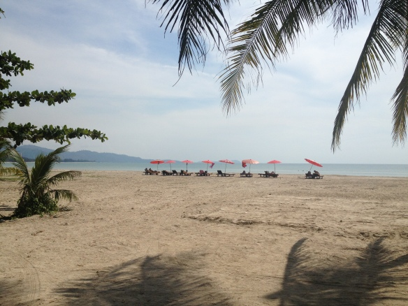 The very lovely and stupidly quiet beach at Khao Lak on the Andaman Sea.