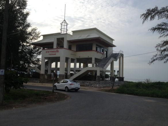 The tsunami warning station just north of Khao Lak, quite a sobering sight.