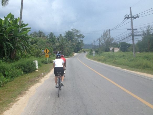 ....and then onto the quieter back roads down to Surin Beach.