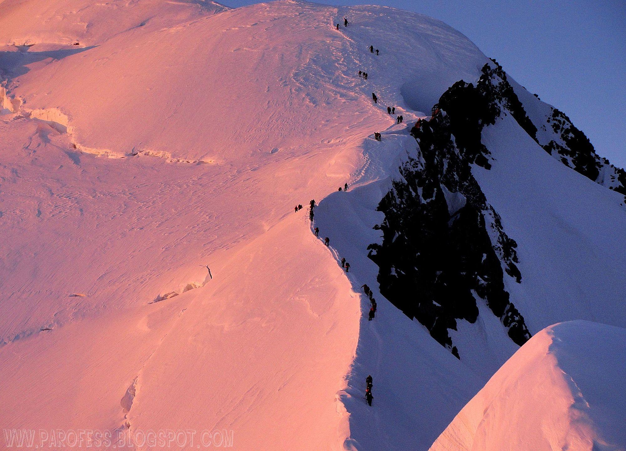 The Bosses ridge on Mont Blanc.