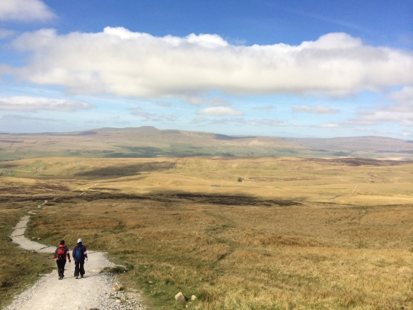 Starting the long trek to Whernside (far right) - Ingleborough can be seen in the far (centre left) distance too.