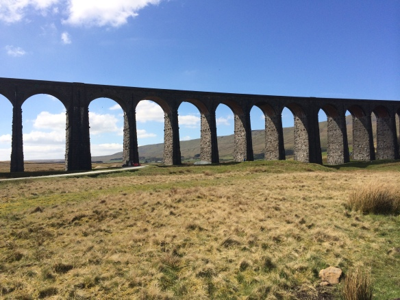 Underneath the mightily impressive Ribblehead Viaduct.