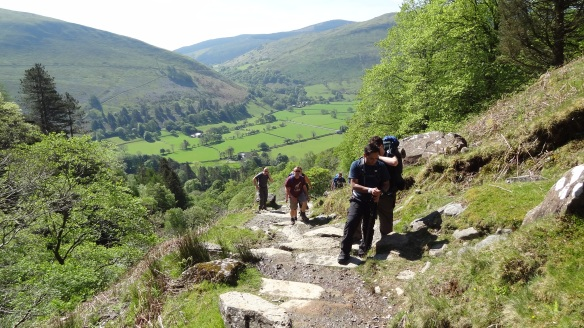 Beginning the climb up the Minffordd path at Cadair Idris