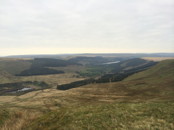 Looking back down towards the Neuadd Reservoir....
