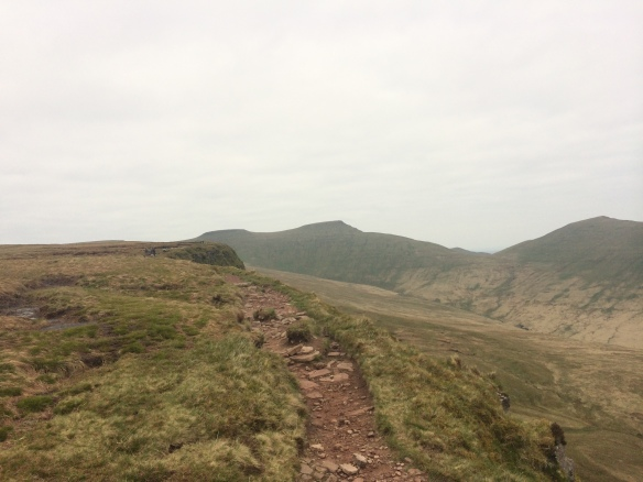 And then towards the peaks - Corn Ddu on the left, Pen Y Fan in the middle, and Cribyn on the right.