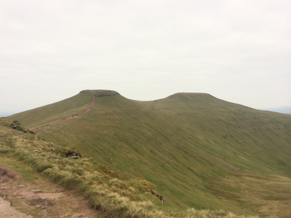 A closer view of Corn Ddu and Pen Y Fan (right).