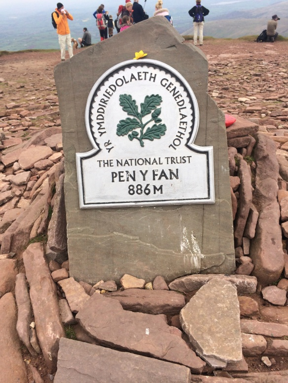 On the top of Pen Y Fan, the highest point in South Wales.