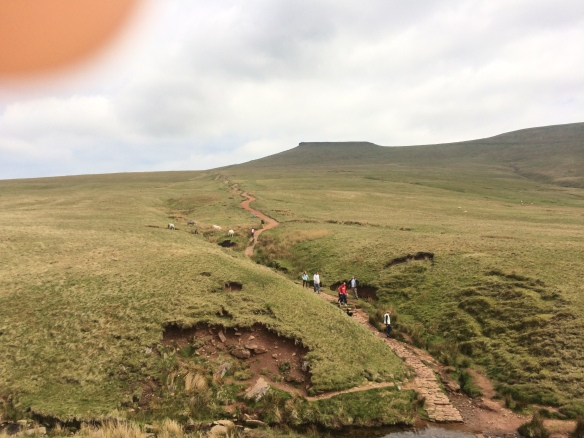 The path back up Pen Y Fan from the Storey Arms centre.