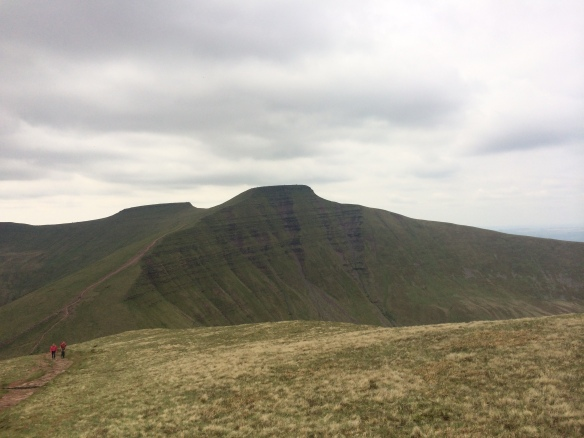 Pen Y Fan and Corn Ddu as seen from the top of Cribyn.