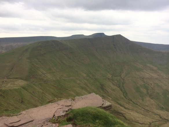 And finally Cribyn, Pen Y Fan, and Corn Ddu, as seen from the top of Fan Y Big.