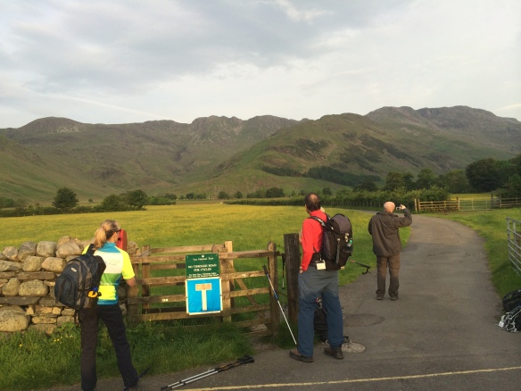 Ready to go! About 5.55am looking towards the Band, and Bowfell, unseen in picture.
