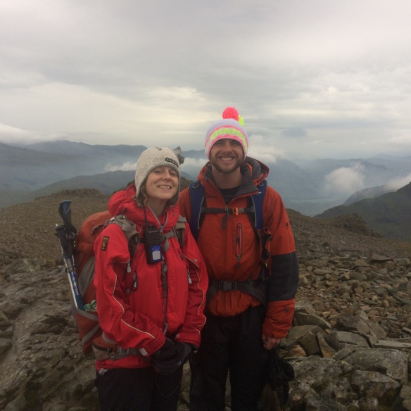 Our guides, Kate and Matt, Scafell Pike - they were happy too!