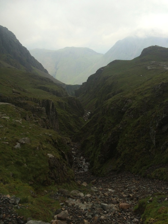 The corridor route down from Scafell Pike towards Great Gable - definitely the last time my camera came out o