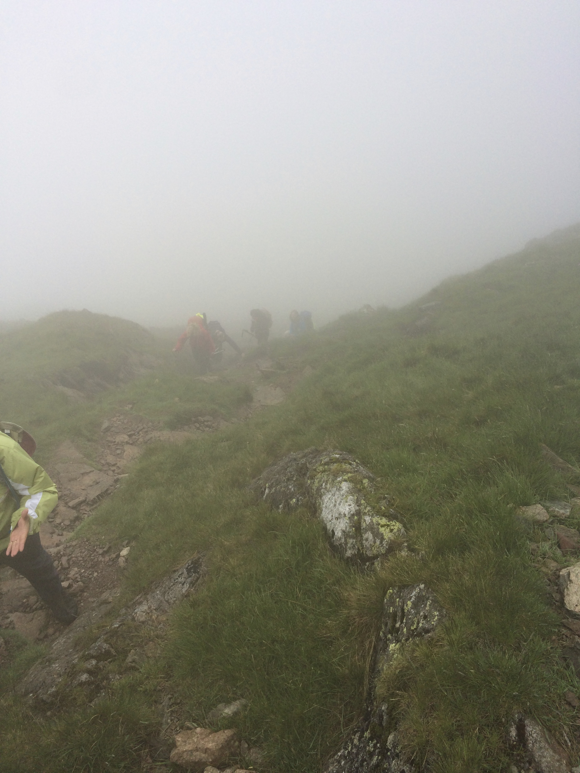 Ascending the steep drag up Red Screes - at least it wasn't raining!