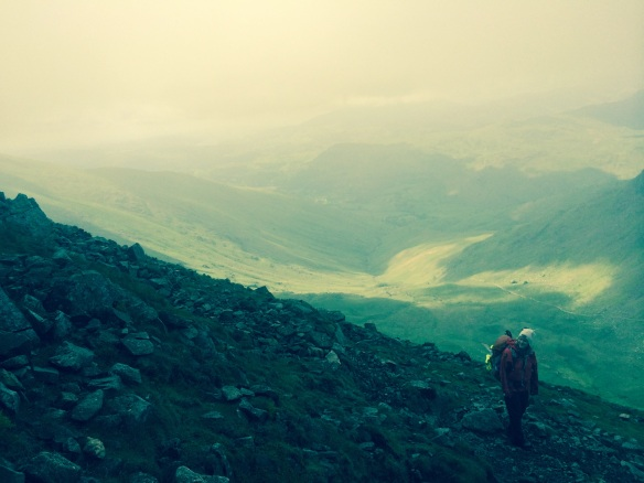 Sescending towards Grizedale Tarn - hard work, but helped by the views at last!