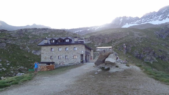 Leaving the Chabon hut for the last time, Sunday morning.