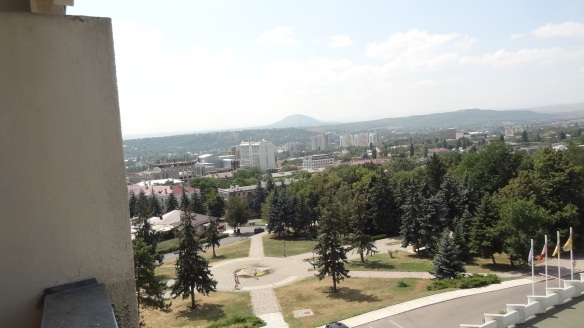 A view over Pyatigorsk from the third floor of our hotel.