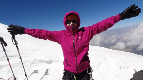 "Katherine enjoys that ""yay I'm at 4,800m moment"""