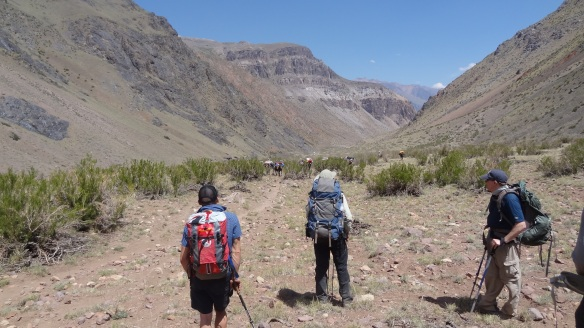 We spot the mule train coming up the valley behind us, always best to let them pass :)