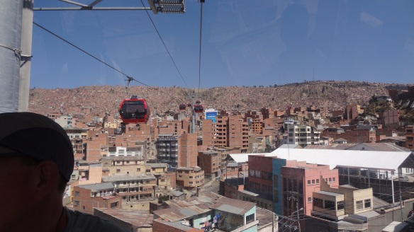 View from the cable car up to El Alto...