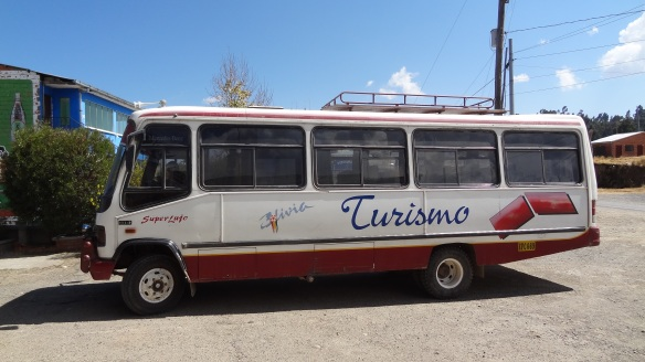Our bus for Titicaca (and beyond, as they say) - a rickety old thing but it served us well.
