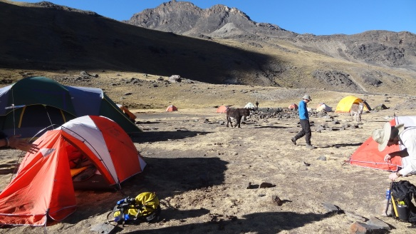 Waking up at Condoriri Base Camp
