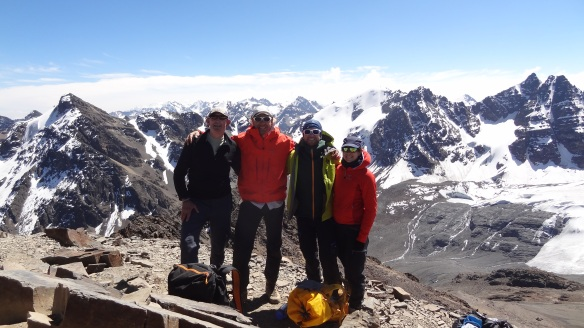 Gavin, Alessandro, Patrick and Lotte at the summit...