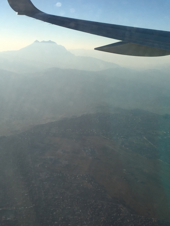 First view of Illimani flying into La Paz