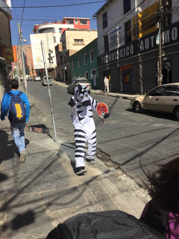They use 'zebra crossings' too, but theirs are a little more animated than ours!