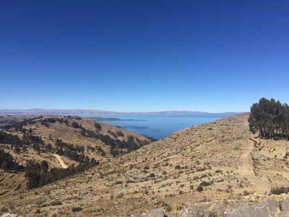 Some parting shots of Titicaca, this one right the Peruvian Border...