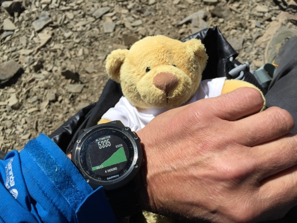 And my watch says 5,335m, or 17,600 feet.