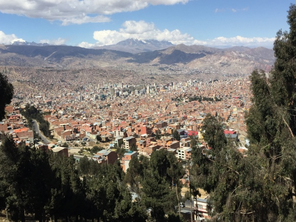 A better view of the sprawling La Paz.